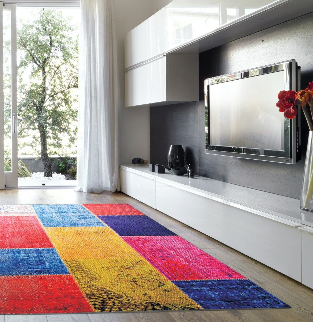MODERN PATCHWORK MULTI AREA RUG