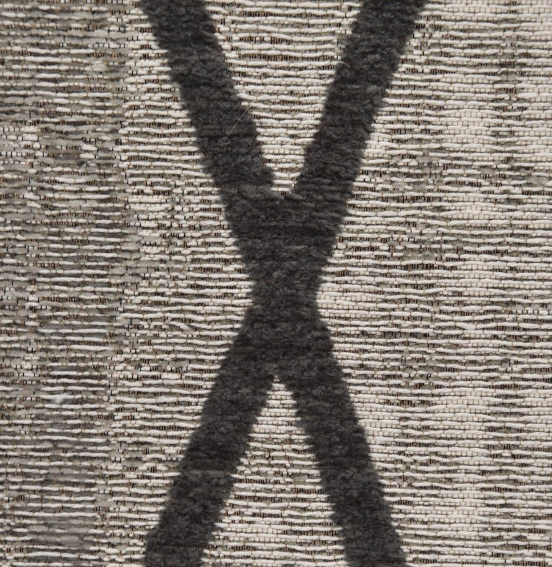 ANTIK CHENILLE CROSS SILVER/GREY AREA RUG