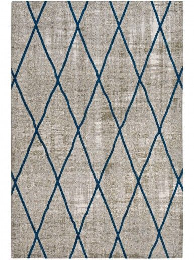 TAPETE ANTIK CHENILLE CROSS 240x340 SILVER/BLUE
