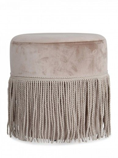 POUF CHIC TAUPE 35 H35CM