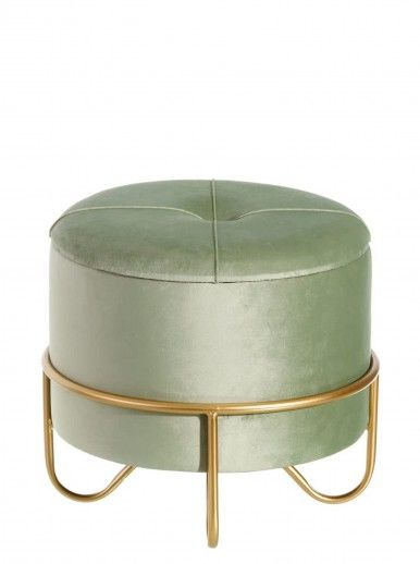 POUF CHARLIE VERDE/OURO 42x42x36