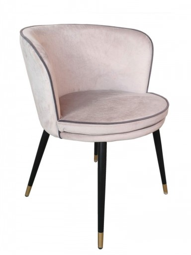 VELVET/METAL CHAIR 934